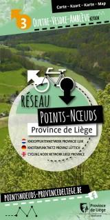 Knooppuntennetwerk in Land van Ourthe-Vesdre-Amblève - Kaart
