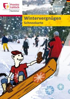 Wintervergnügen – Schneekarte