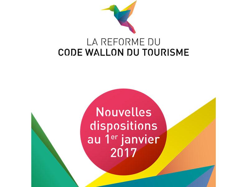 La réforme du Code Wallon du Tourisme