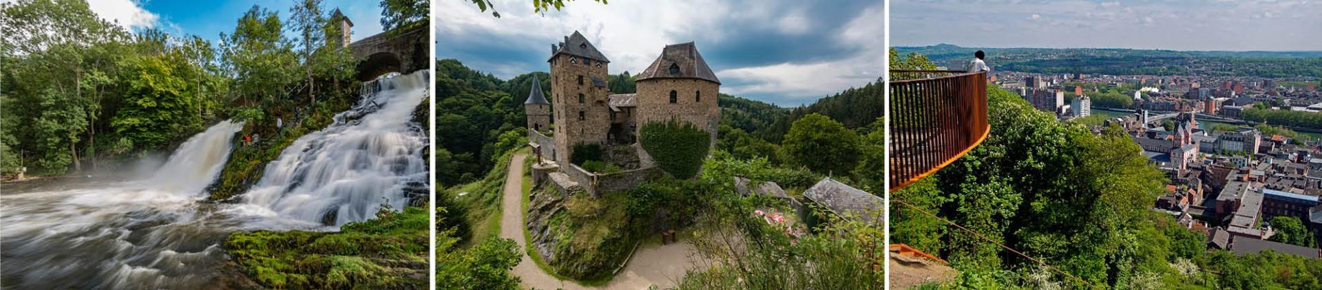 Besondere Naturstätten, Denkmäler und Aussichtspunkte in der Provinz Lüttich