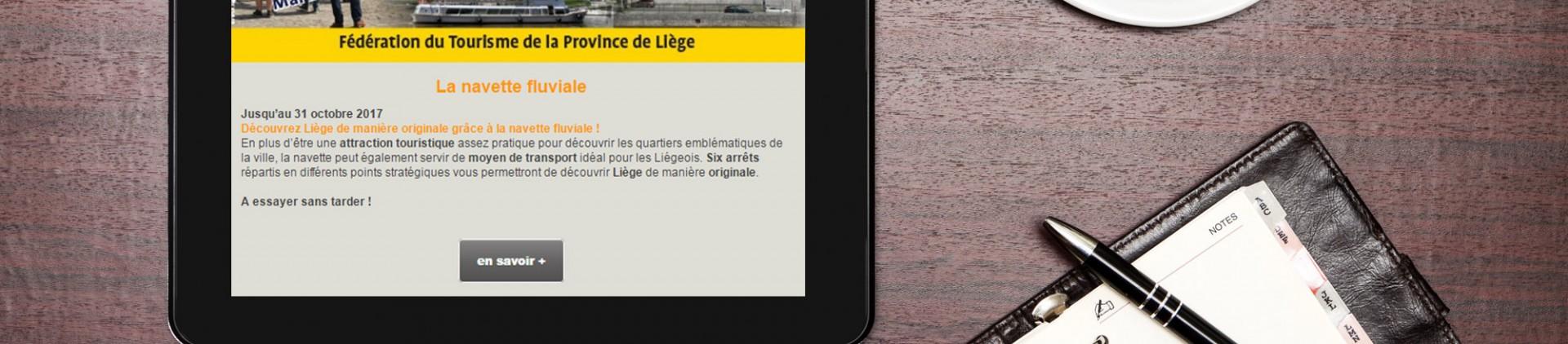 Newsletter mensuelle FTPL - province de Liège