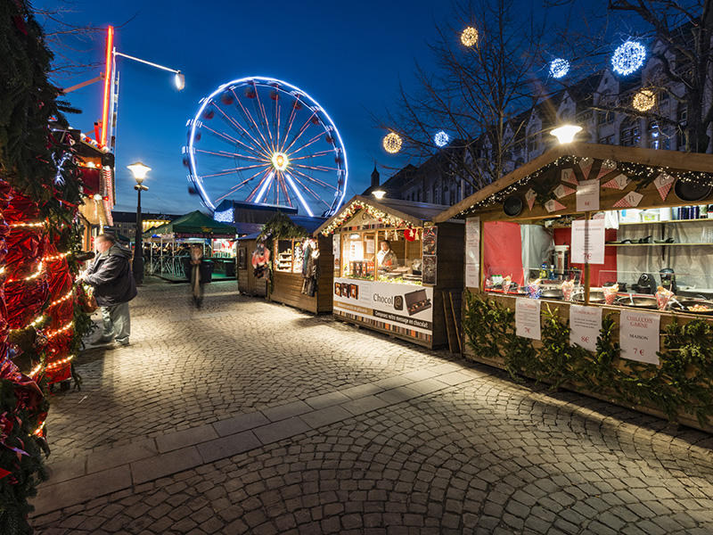 The Christmas markets