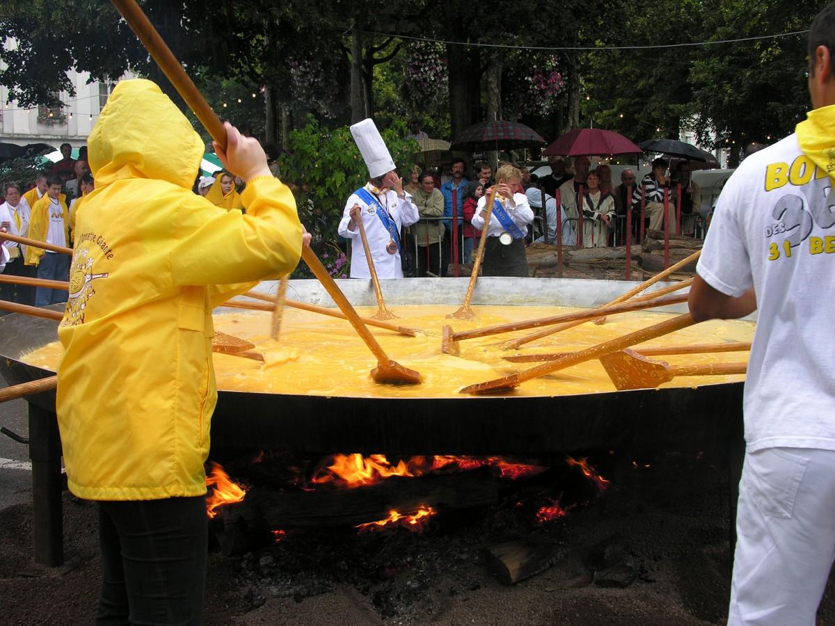 Omelette géante du 15 août à Malmedy