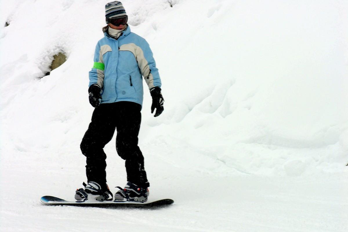 Snowboard dans les Fagnes
