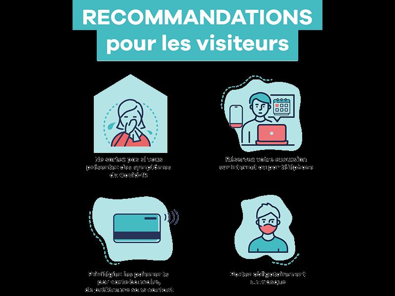 Covid-19 - Recommandations pour les visiteurs