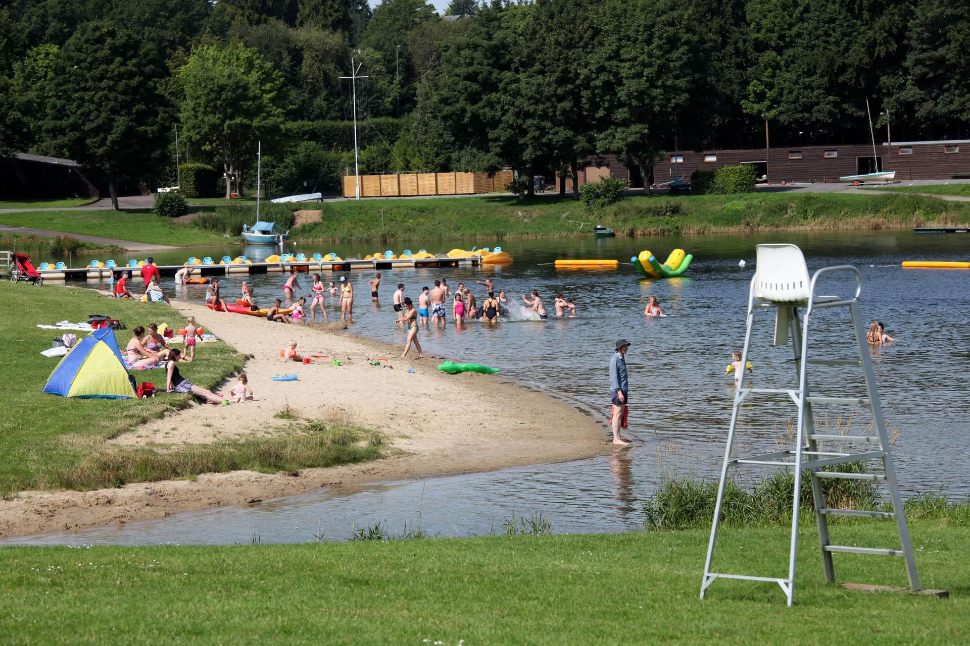 Lieux de baignade extérieur - Espace Worriken - Lac de Bütgenbach