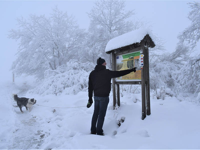 Winterwanderung in der Provinz Lüttich