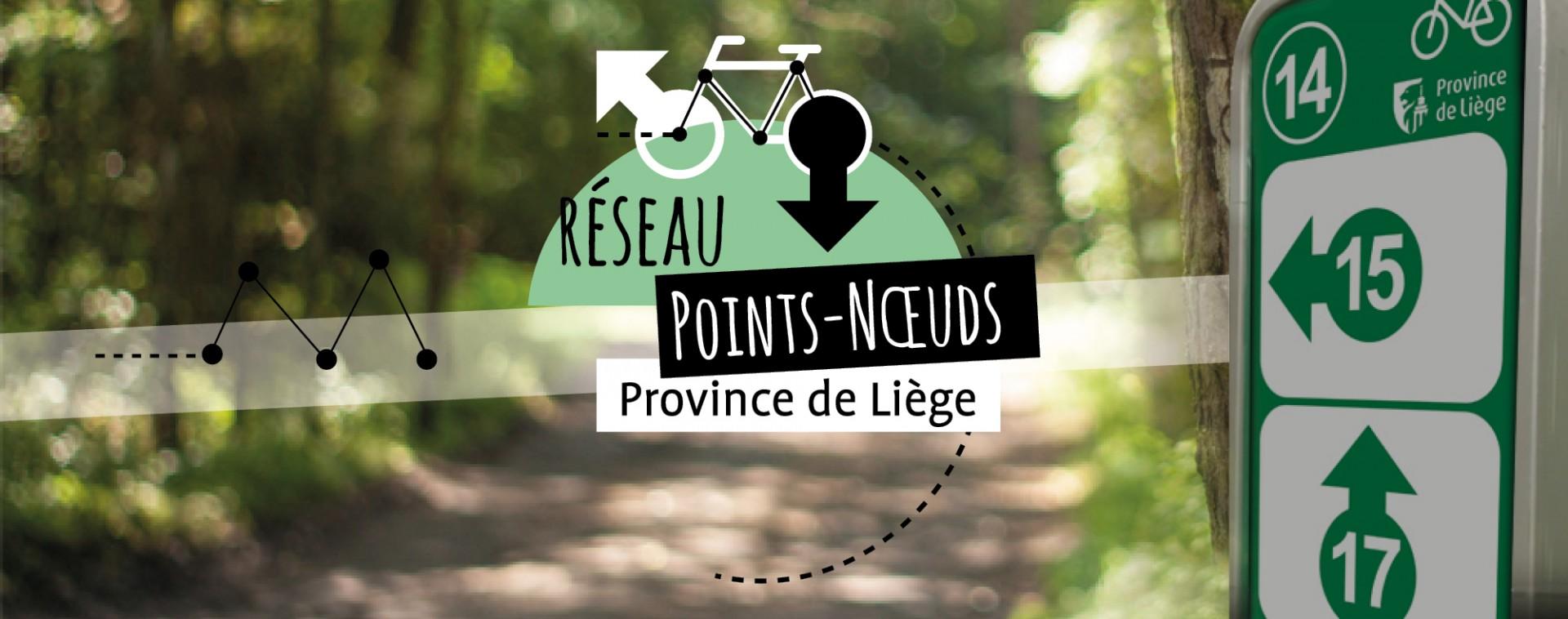 Réseau vélo points-nœuds Province de Liège | © FTPL