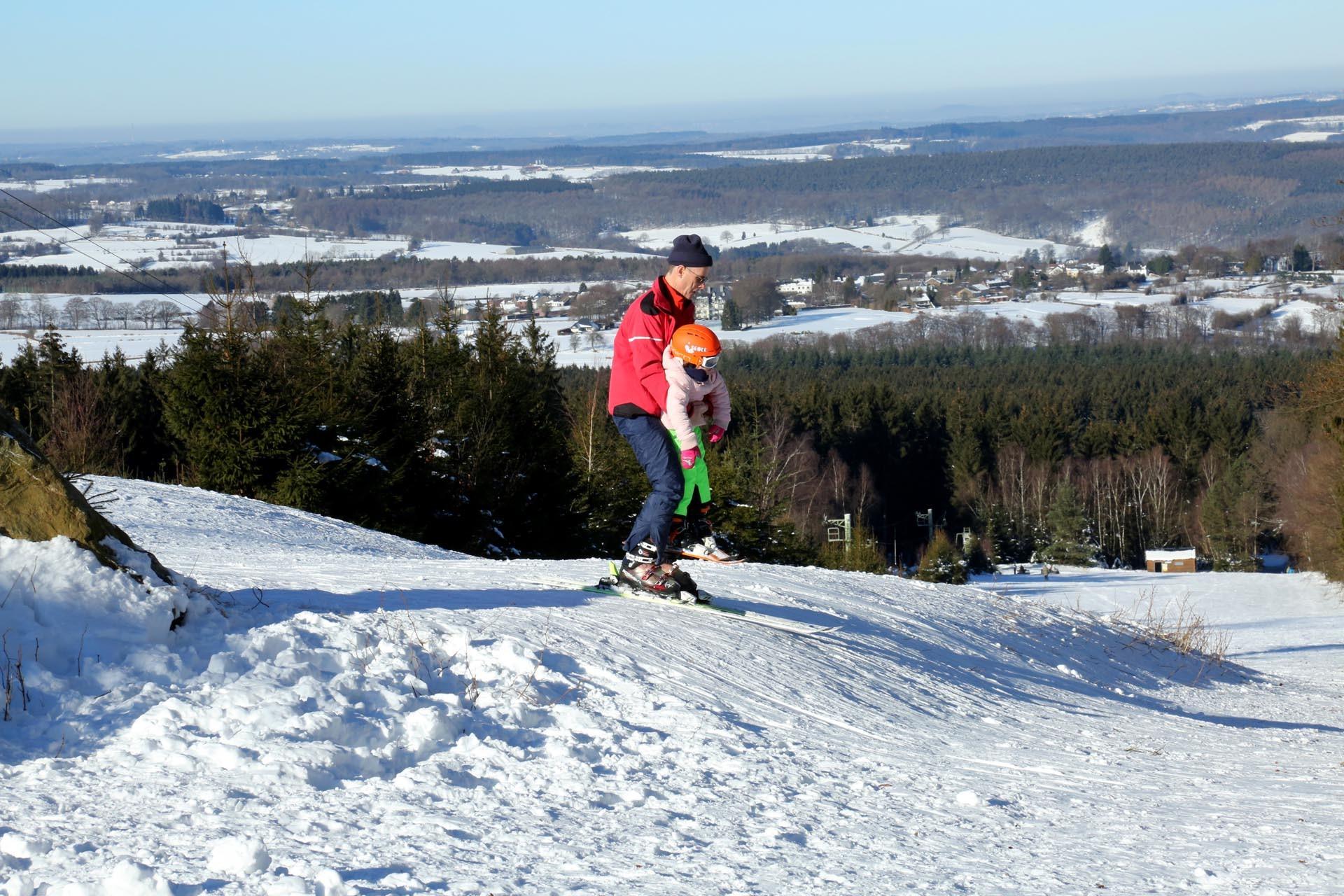 Sport d'hiver en province de Liège