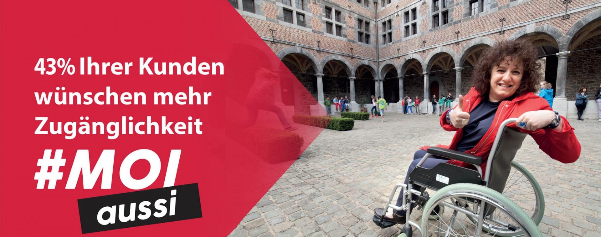 Zugänglichkeit in der Provinz Lüttich #Moi aussi | © FTPL