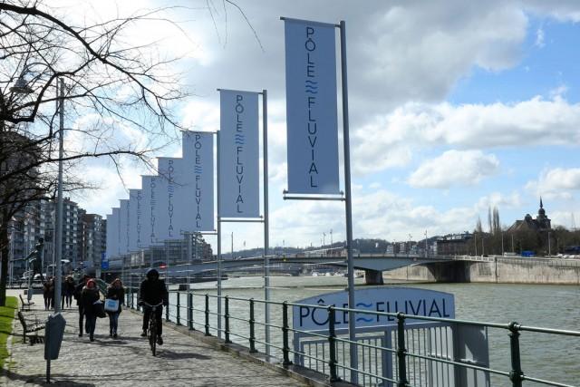 Pôle fluvial en bord de Meuse à Liège | © Patrice Fagnoul
