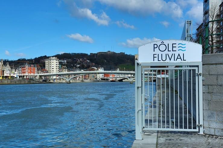 Barrière de sécurité Pôle fluvial © FTPL Patrice Fagnoul