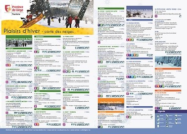 Carte des neiges Plaisirs d'hiver de la FTPL - recto