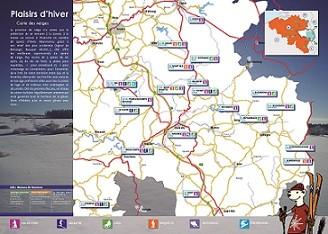 Carte des neiges Plaisirs d'hiver de la FTPL - verso