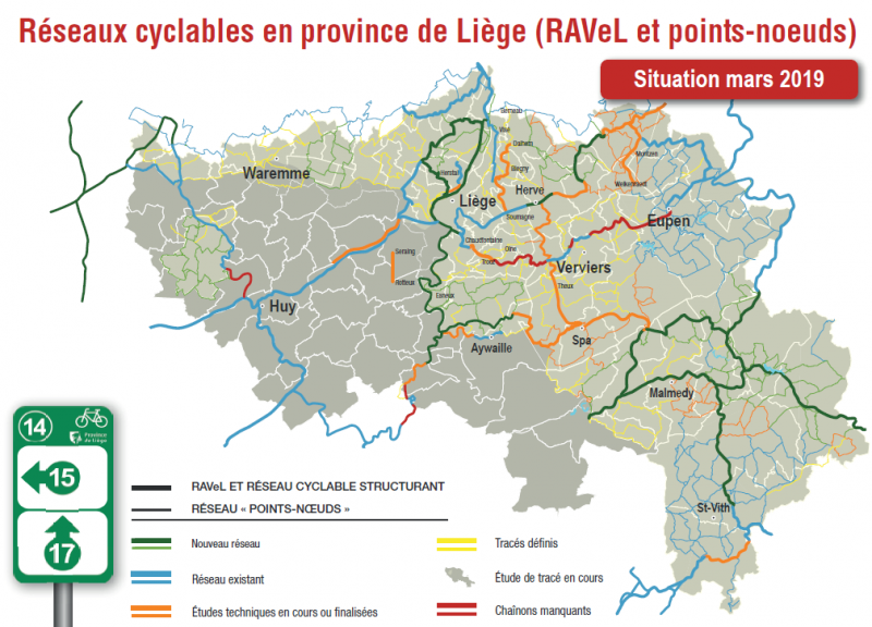 Carte Points-Noeuds en province de Liège