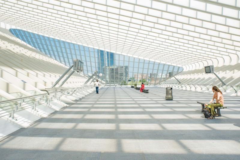 Gare des Guillemins de Liège - Vue intérieure