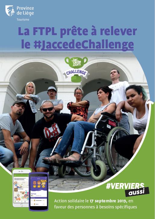 DOSSIER DE PRESSE - La Fédération du Tourisme a relevé un troisième « Jaccede Challenge » ce 17 septembre à Verviers
