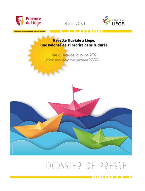 DOSSIER DE PRESSE - Navette fluviale à Liège une volonté de s'inscrire dans la durée - 08.06.21