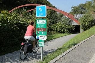 Réseau cyclable « Points-nœuds en province de Liège » ©P. Fagnoul