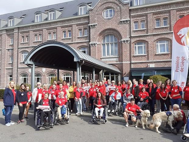 55 bénévoles et 15 agents de la Fédération du Tourisme ©MMathot