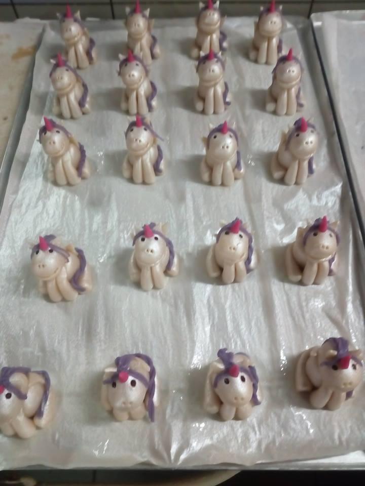 Licornes en massepain