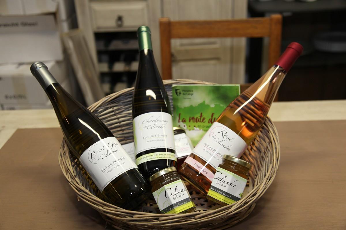 Domaine Celiandre - Flémalle - Bouteilles vin et gelées