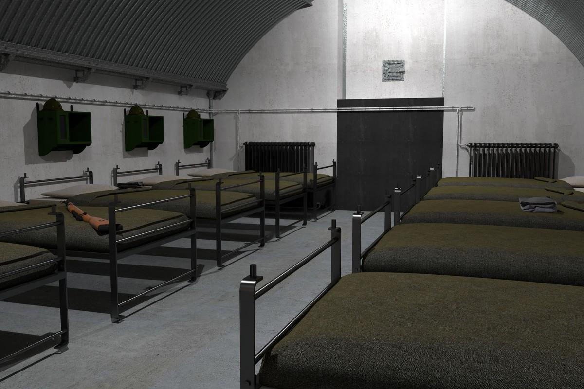 Fort de Flémalle - Local de détente