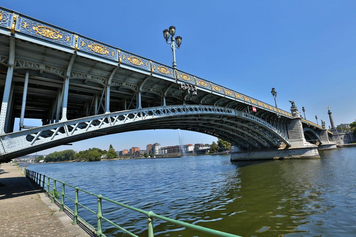 Pont de Fragnée - Liège - Vue du dessous du pont