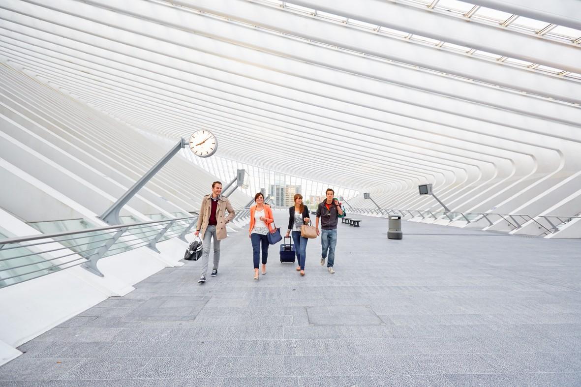 Gare TGV de Liège-Guillemins, architecte Santiago Calatrava