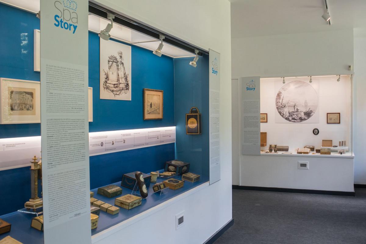 Musée Ville d'eaux - Expo permanente Spa Story - vitrine