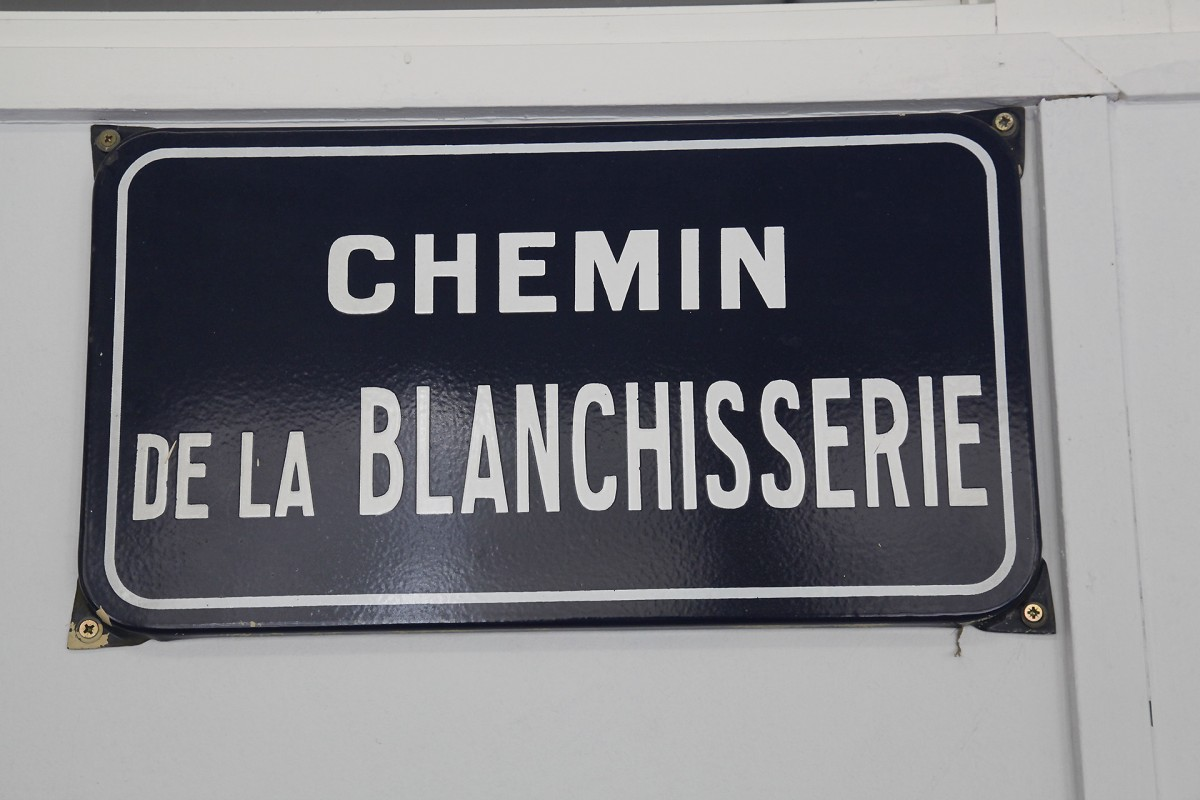 Musée de la Lessive - Spa - Plaque adresse