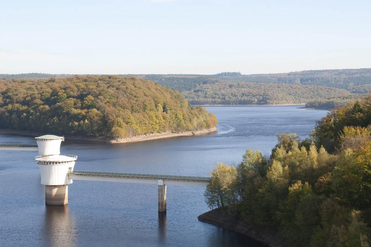 Lac et barrage de La Gileppe - Jalhay - Vue d'ensemble