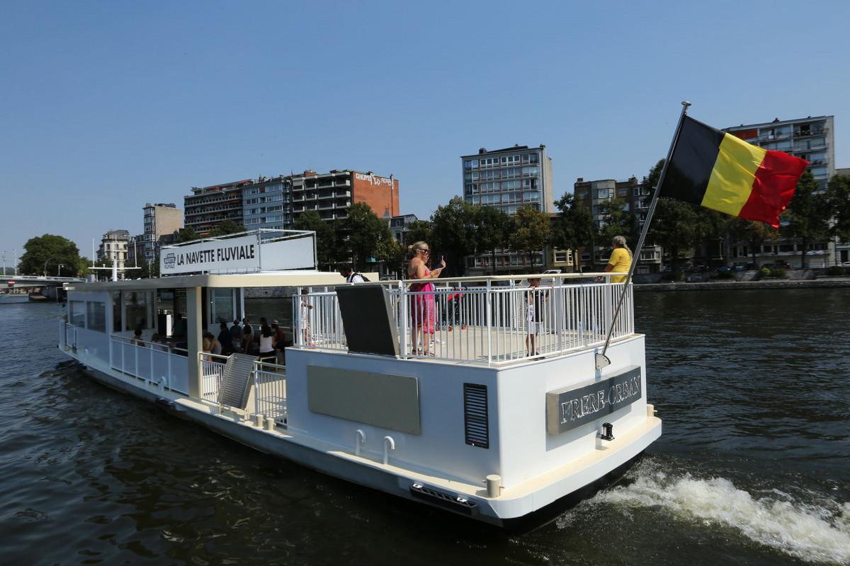 Liège - Navette fluviale Frère Orban - vue arrière