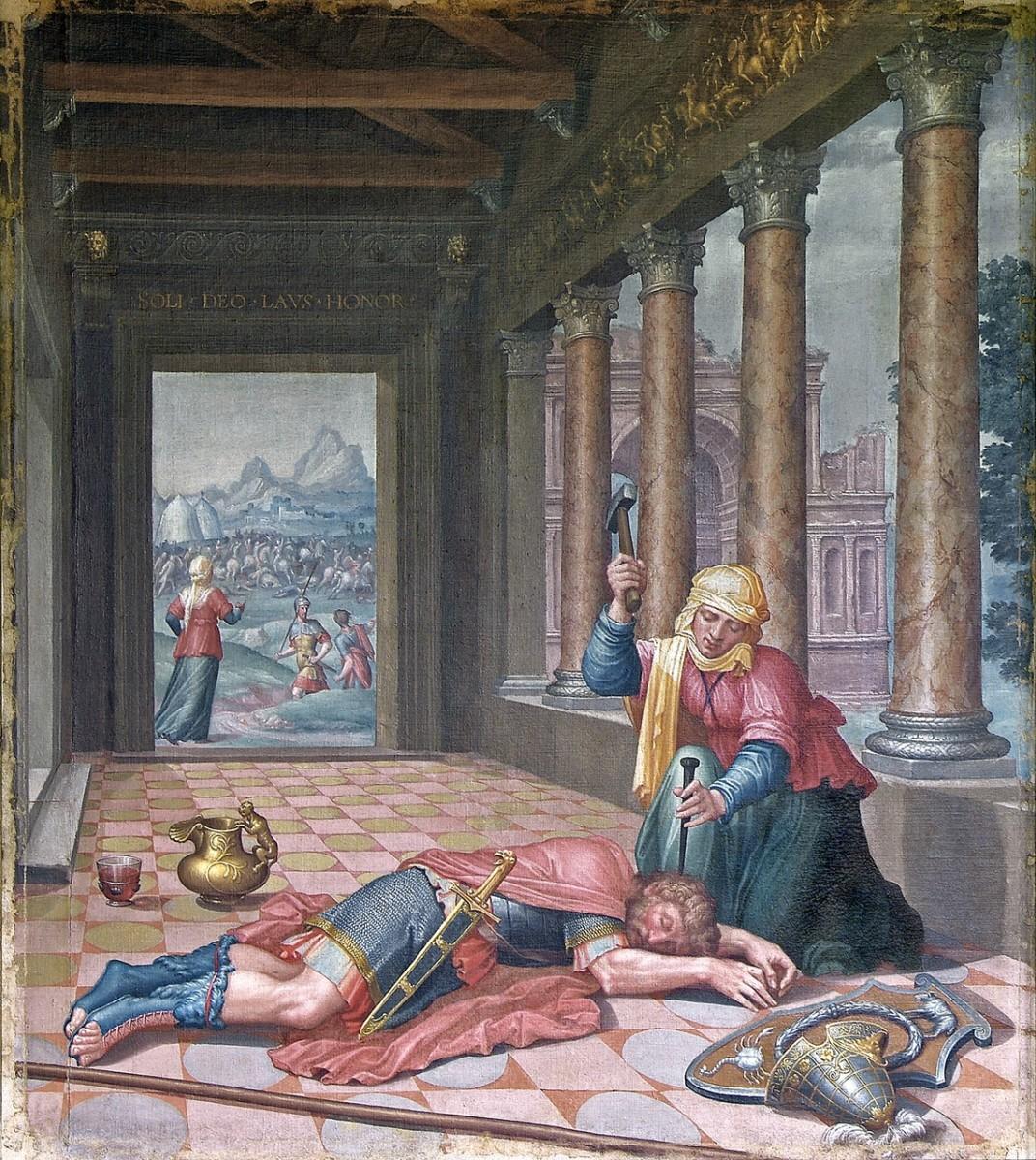 Lambert Lombard, Les femmes vertueuses - Jaël et Sisara, vers 1547 ©Musée des Beaux-Arts de Liège ©Sabam 2018