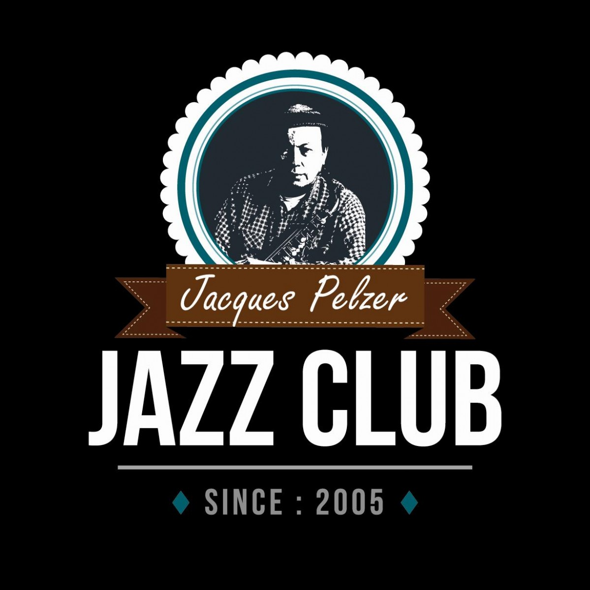Jacques Pelzer Jazz Club - Liège - New logo Négatif
