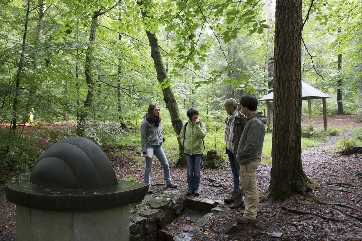 Parc naturel des sources - Spa - Groupe de promeneurs