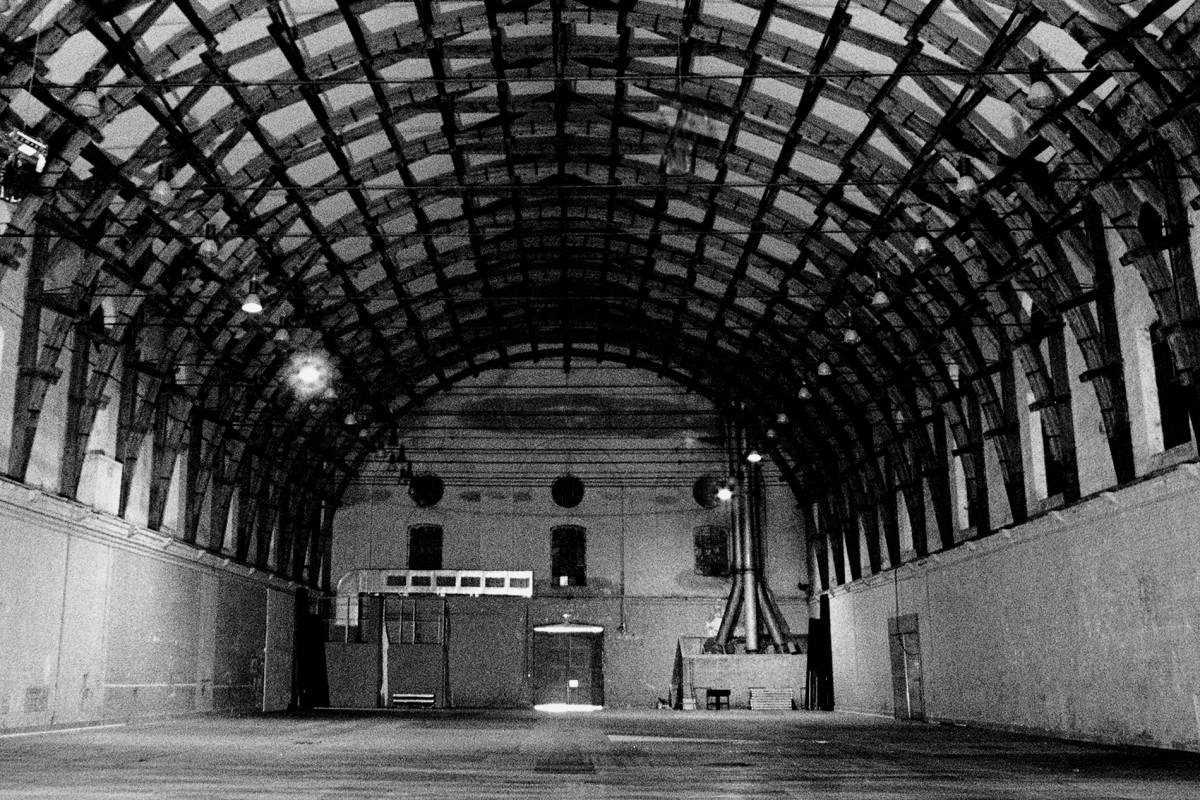 MANEGE FONCK - Liège - Vue intérieure structure