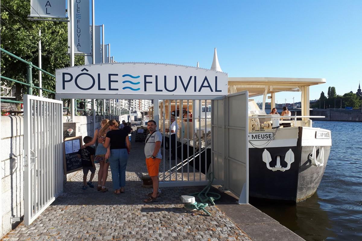 Apéro su Meuse - Liège - entrée du Pôle fluvial