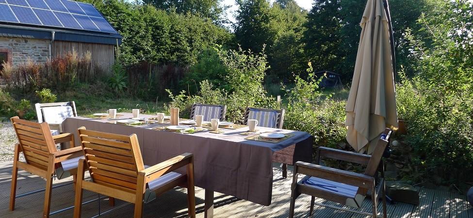 Le petit roer déjeune terrasse