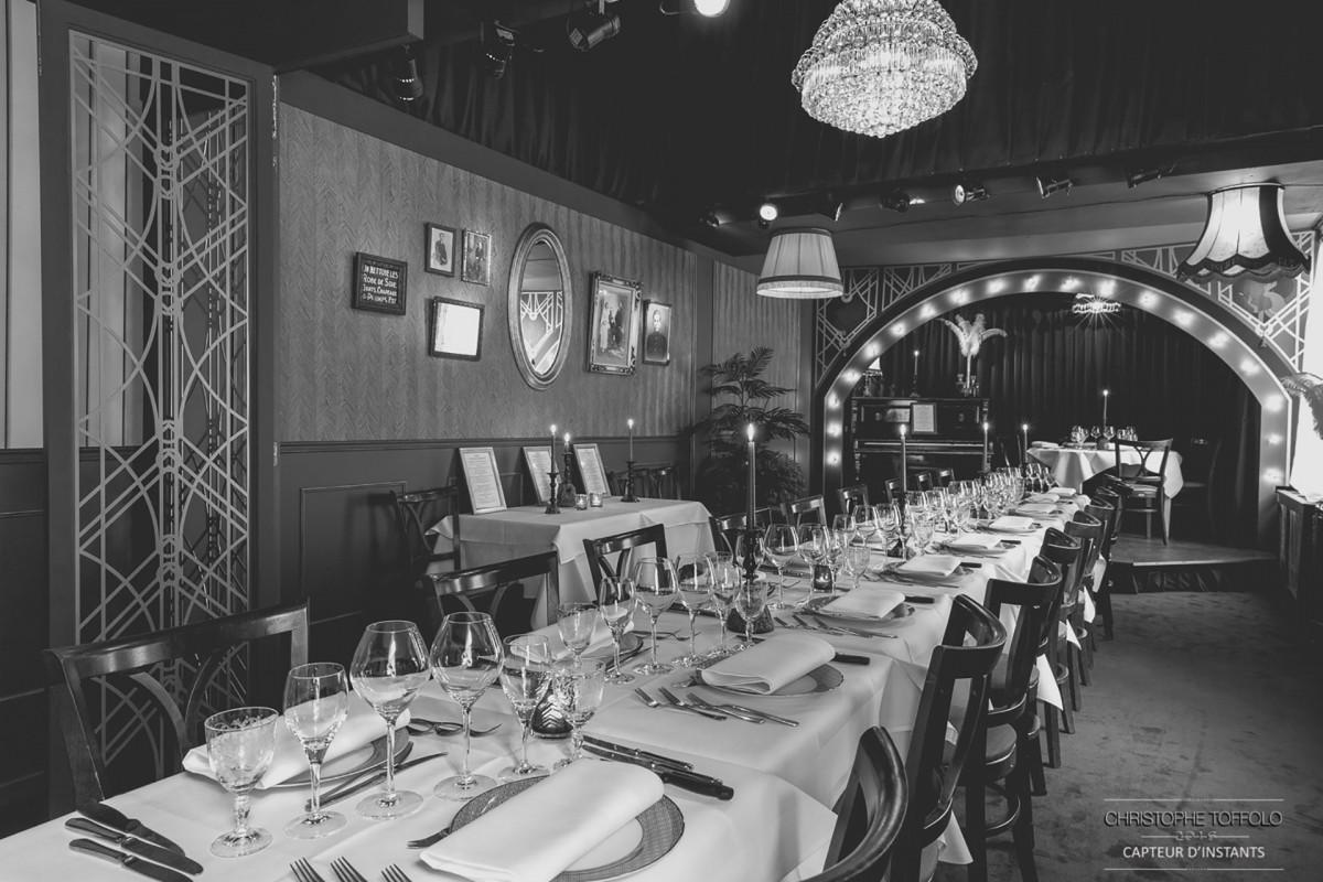 Restaurant Le Thème - Liège - noir et blanc