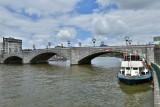 Bateau Val Mosan - Huy - Vue pont Baudouin