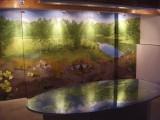Fresque maison du site minier