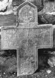 La Gleize - église - croix funéraire de Jean Meurice et Françoise Wilmod - 1704