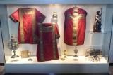 La Gleize - église - vitrine d'exposition
