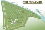 Fort Eben Emael - plan des galeries souterraines