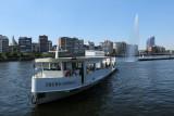 Liège - navette fluviale Frère Orban - en navigation
