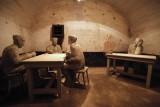 Musée du Fort de Loncin - Mannequins assis à table