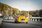 Road Vintage Experience - Barrage de la Gileppe - 2 CV jaune