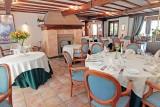 Hôtel Le Ménobu - La Reid - Salle restaurant avec cheminée
