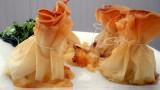 Aumonieres au fromage de herve et aux poires